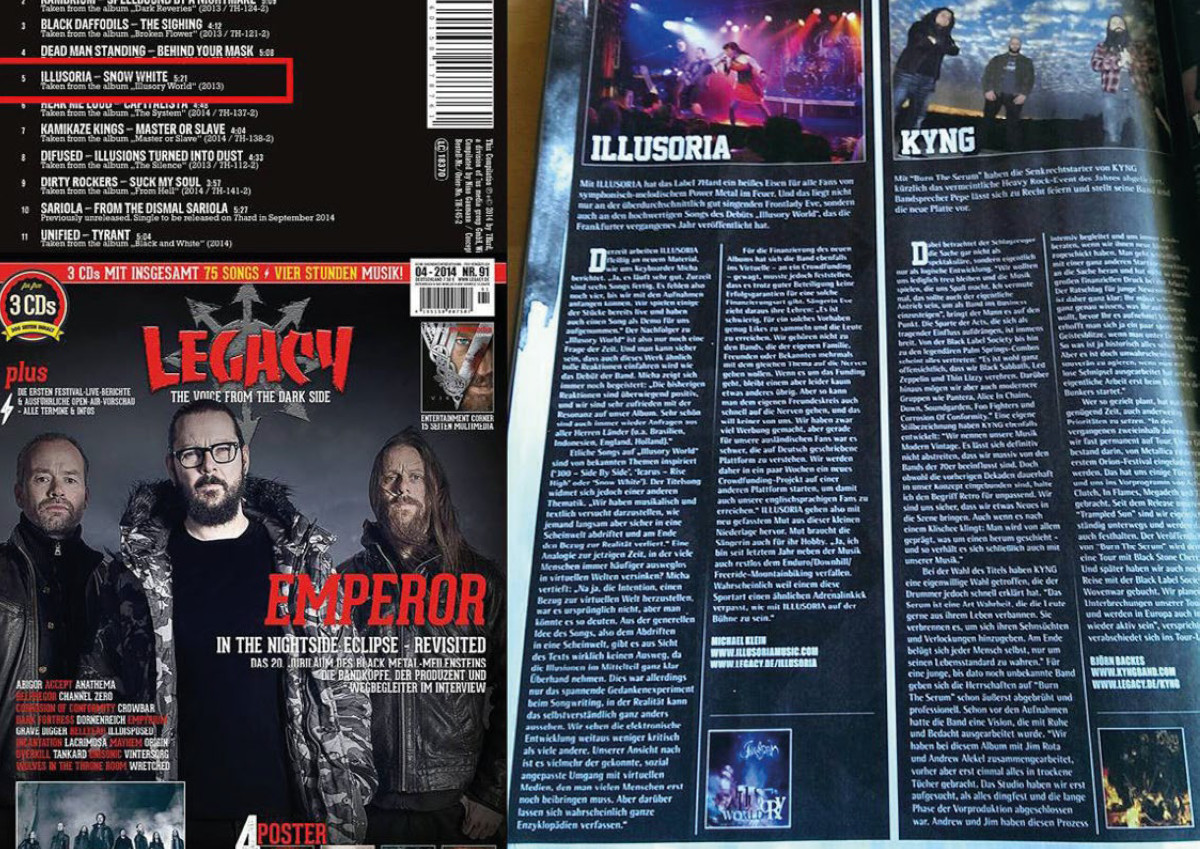 Illusoria - Illusory World - Review im Legacy Magazin